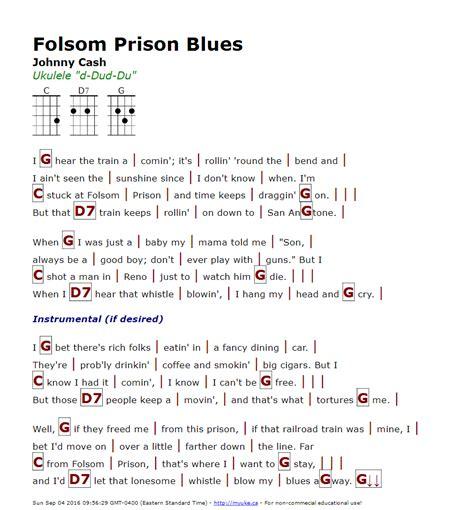 Guitar Chords For Folsom Prison Blues