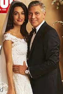hochzeitskleid amal clooney amal alamuddin s wedding dress revealed marie claire