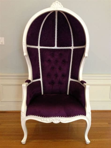 High Backed Throne Chair by Purple Dome Umbrella High Back Canopy Porter Mohogany Wood
