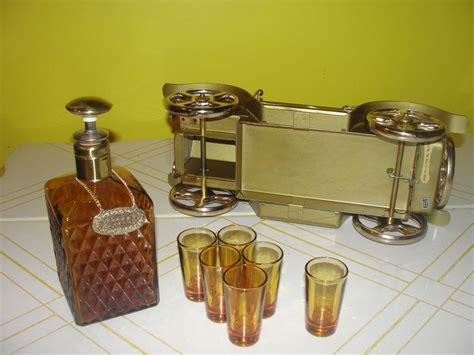 solid gold cadillac the solid gold cadillac decanter and glasses with