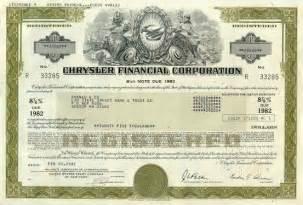 chrysler corporation bond certificate