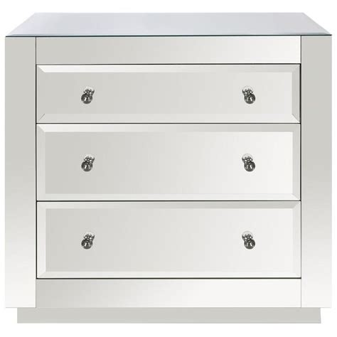 libby silver mirrored dresser libby silver mirrored 3 drawer whitewash chest