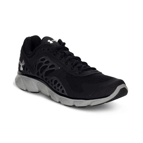 armour black sneakers armour micro g skulpt sneakers in black for