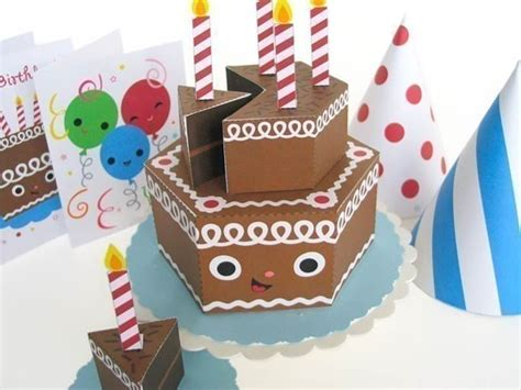 Papercraft Happy Birthday - in kawaii playset2 inhabitots
