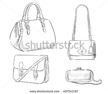Fashion Line Bag bag fashion sketch pencil and in color bag