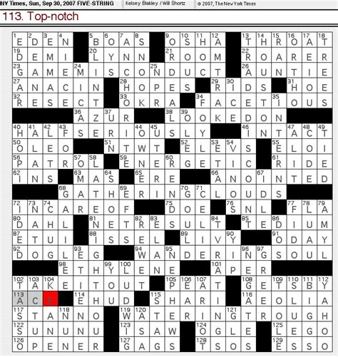 prime theme crossword clue rex parker does the nyt crossword puzzle september 2007