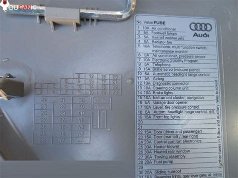 1998 audi a4 fuse box location wiring diagram with