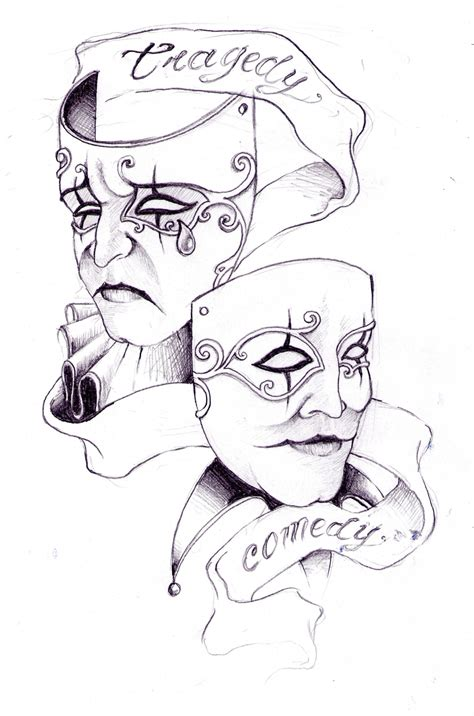 theater mask tattoo designs drama faces girly search tattoos