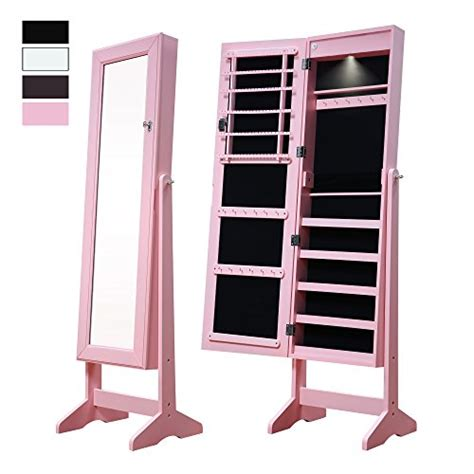 pink jewelry armoire cloud mountain pink full length mirror jewelry armoire