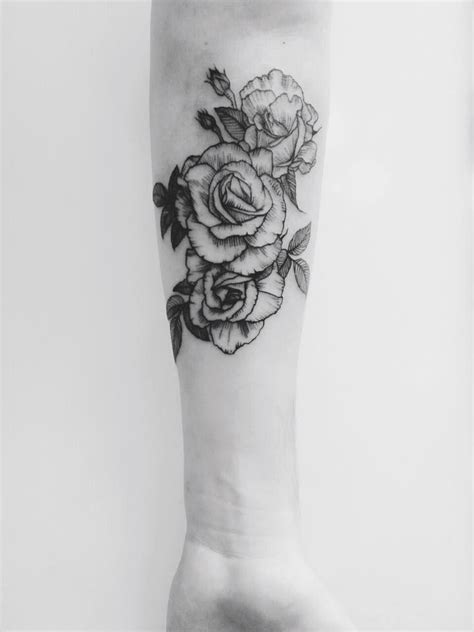 beauty from pain tattoo some roses i got done by miller an apprentice at