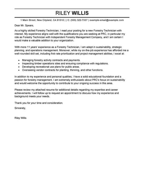 agriculture environment cover letter samples livecareer