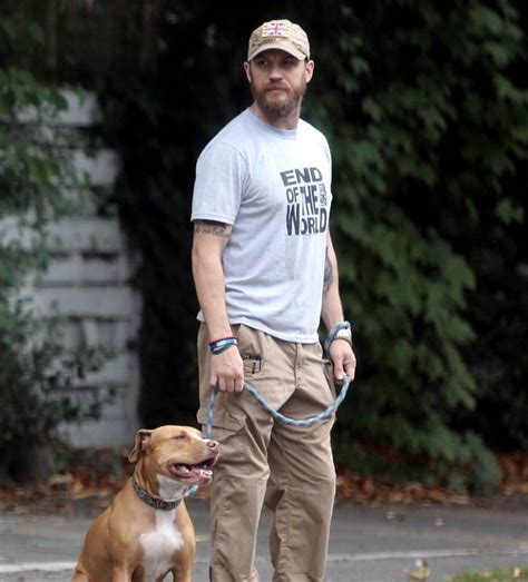 tom hardy puppy tom hardy out in with cass ahead of tiff premiere of legend lainey gossip