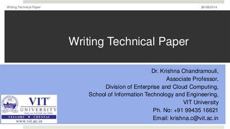writing technical paper writing technical paper
