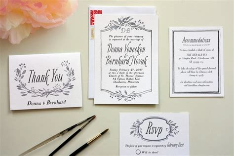 Easy Handmade Wedding Invitations - diy wedding invitations made easy