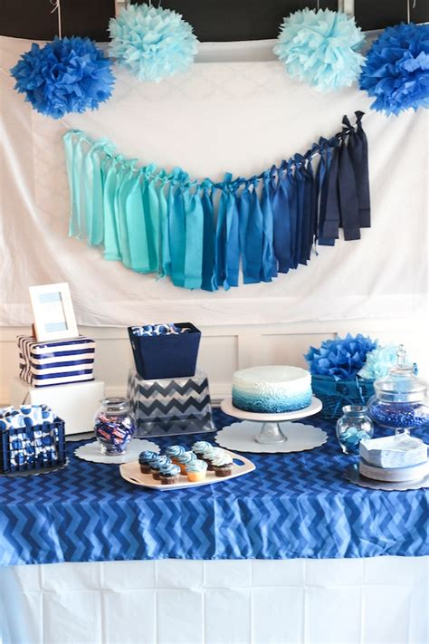 party themes with blue blue ombre dessert table boys birthday ombre surf design