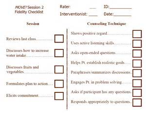 Design Options For Home Visiting Evaluation by Self Monitoring Checklist