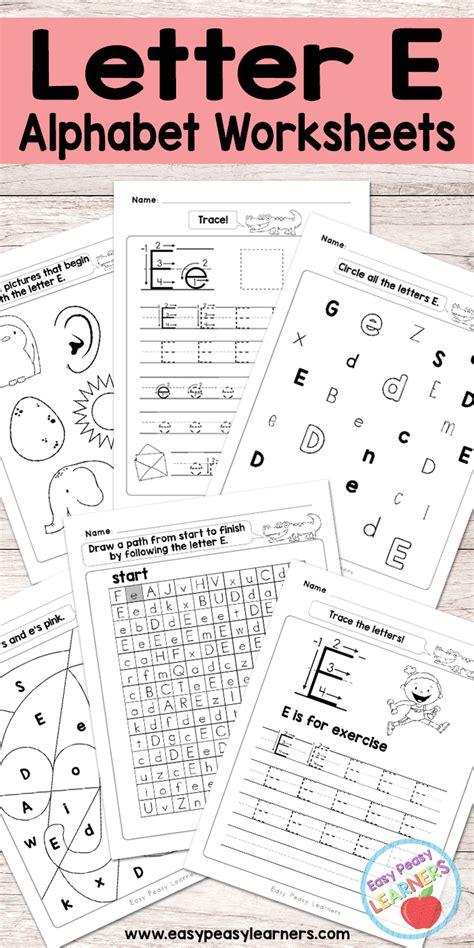 free printable letter e worksheets alphabet worksheets