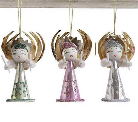 vintage reproduction angel ornaments retro christmas