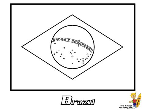 Flag Of Brazil Coloring Page brazil flag colouring pages to printout