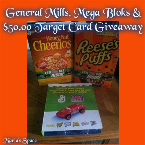 General Mills Giveaway - maria s space general mills free stuff in cereal giveaway 50 00 target gift card