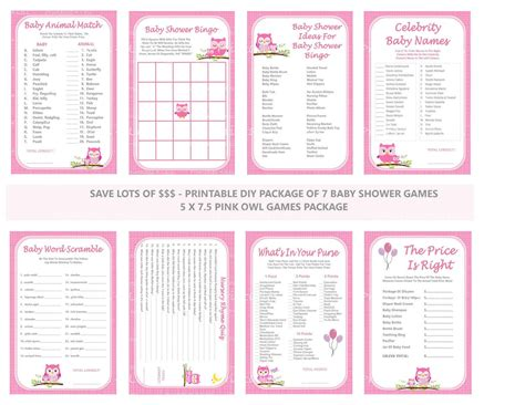 printable owl themed baby shower games pink owl baby shower game printable pink owl game owl theme