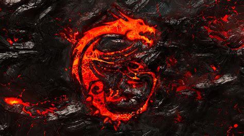 wallpaper 4k dragon msi dragon logo burning lava background 4k wallpaper msi