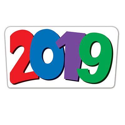 2019 happy new year cutout