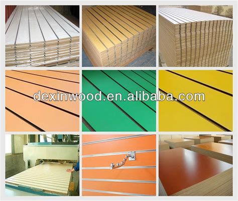 low prices melamine slatwall mdf low price melamine mdf slatwall for export buy slatwall