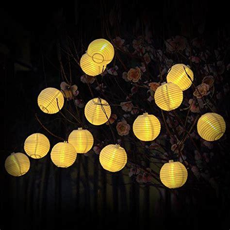 White Solar String Lights Outdoor Solar String Lights Outdoor 15 7ft 20 Led Lights Warm White Lantern Globle