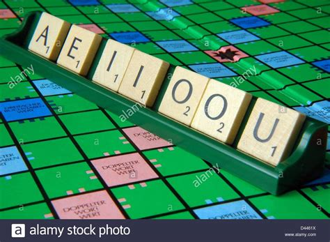scrabble ok illustratione scrabble tiles with the vowels a e