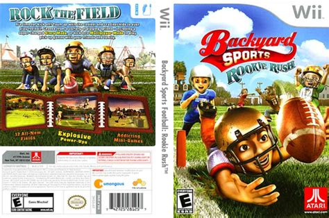 backyard sports football rookie wii cover sfbe70