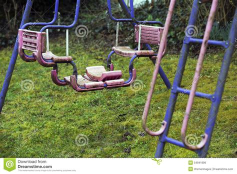 dirty swing old dirty playground stock photo image of park dangerous