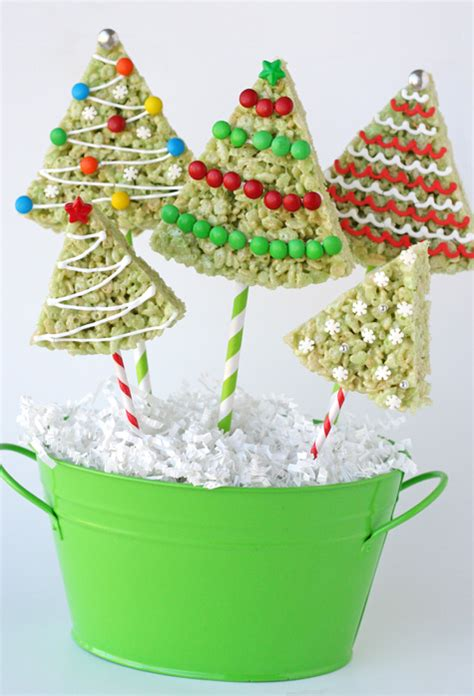 rice krispie treat christmas trees glorious treats