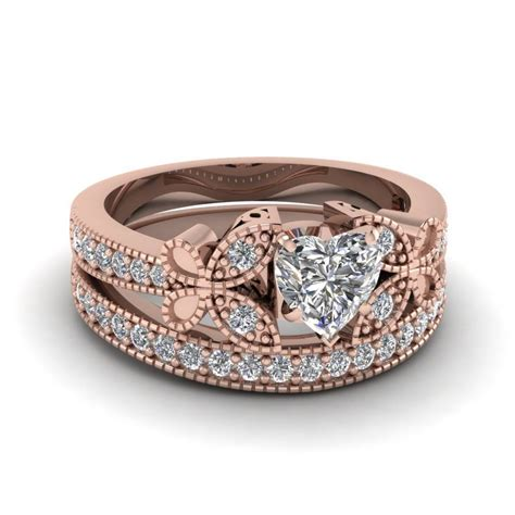 15 photo of wedding rings that looks like a rose