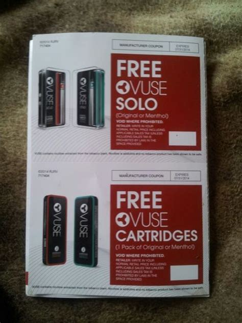 coupons    vuse solo  vuse cartridges