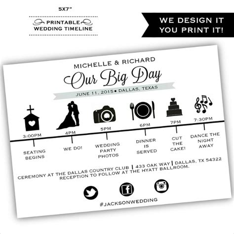 Wedding Details Card Template Timeline by Wedding Timeline Template Template Business