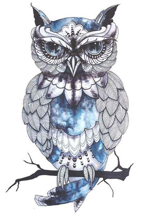 blue owl tattoo design blue owl tattoo design idea tattoo shortlist
