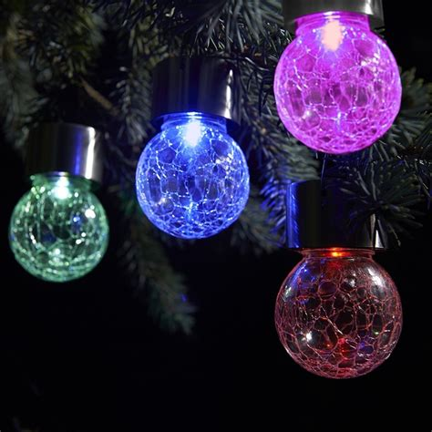 color changing led light fixtures color changing white led crackle glass hanging solar