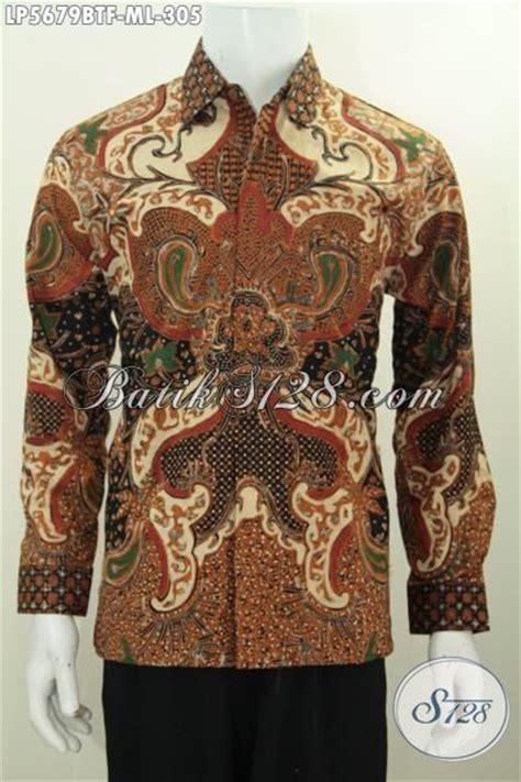 Kemeja Batik Pria Terbaru Lengan Panjang Mewah Elegan jual kemeja batik elegan model lengan panjang furing