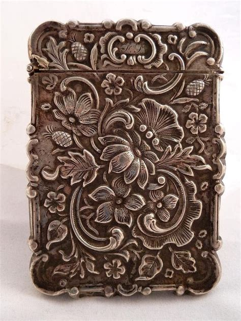 victorian pattern pinterest silver american victorian calling card case boxes