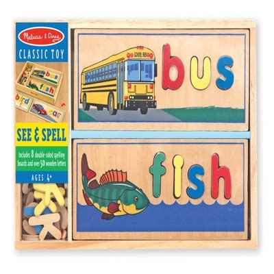 wood pattern and spelling toy melissa doug 174 see spell wooden educational toy with 8