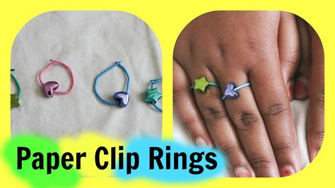 How To Make A Paper Ring - how to make easy paper clip rings