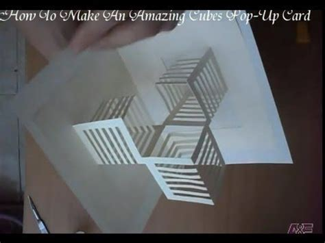 tutorial origami arquitectonico 14 how to make an amazing cubes pop up card origamic