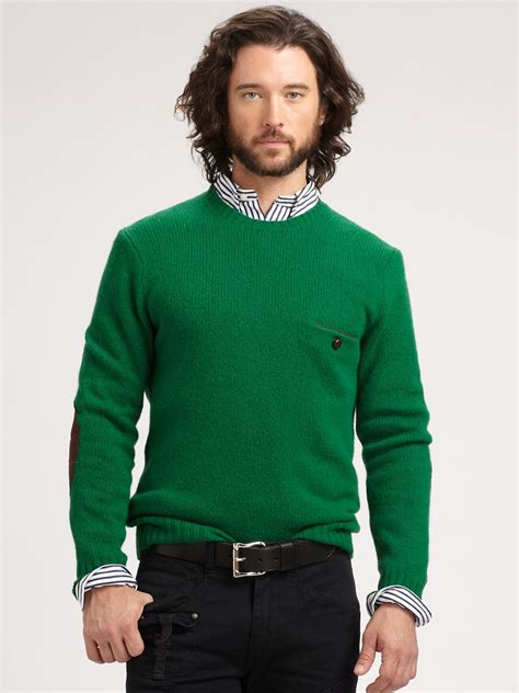 Bfs Sweater Hoodie Polos polo ralph jersey crewneck sweater in green for lyst