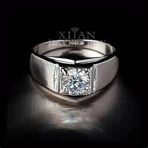 1ct cut mens wedding engagement solitaire ring 18k