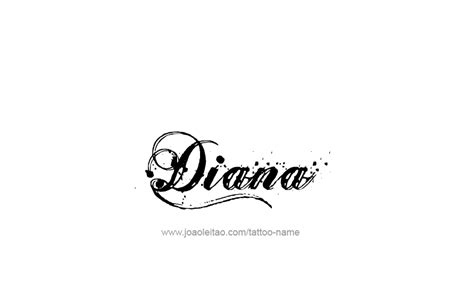 diana tattoo diana name designs