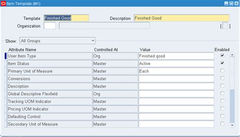 data item description template oracle inventory user s guide