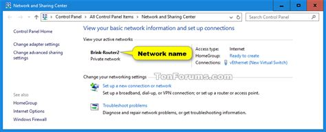 change network profile name in windows 10 network