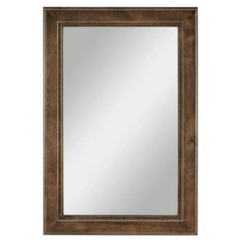 frames for bathroom mirrors lowes shop diamond freshfit webster 25 in x 34 in mink espresso