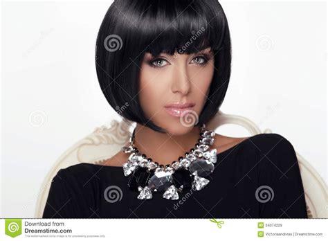 fashion beauty woman portrait stylish haircut and makeup